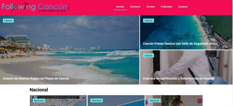 diseño web following cancun por yuumgo marketin